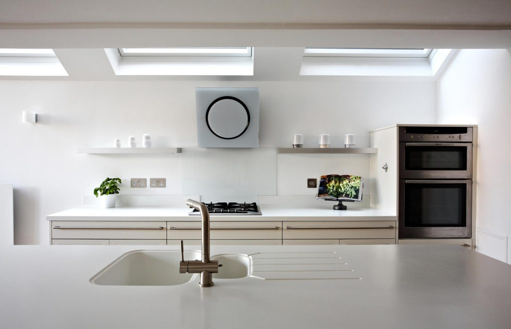 Pure White Kitchen preparation area
