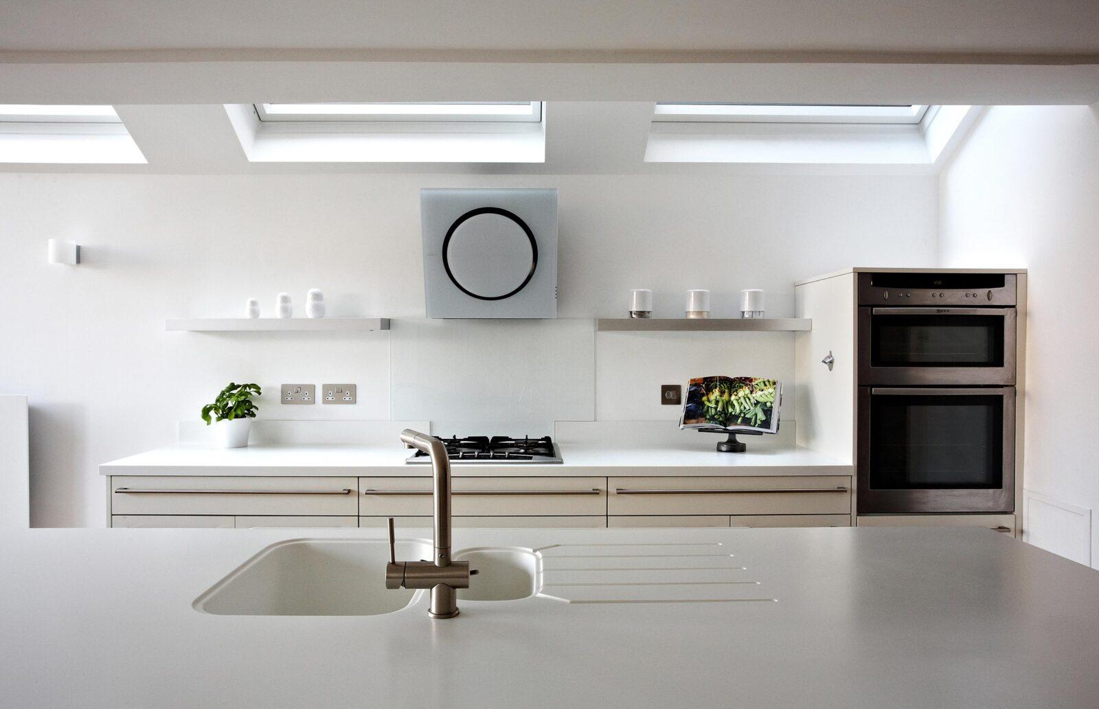 Pure White Kitchen preparation area