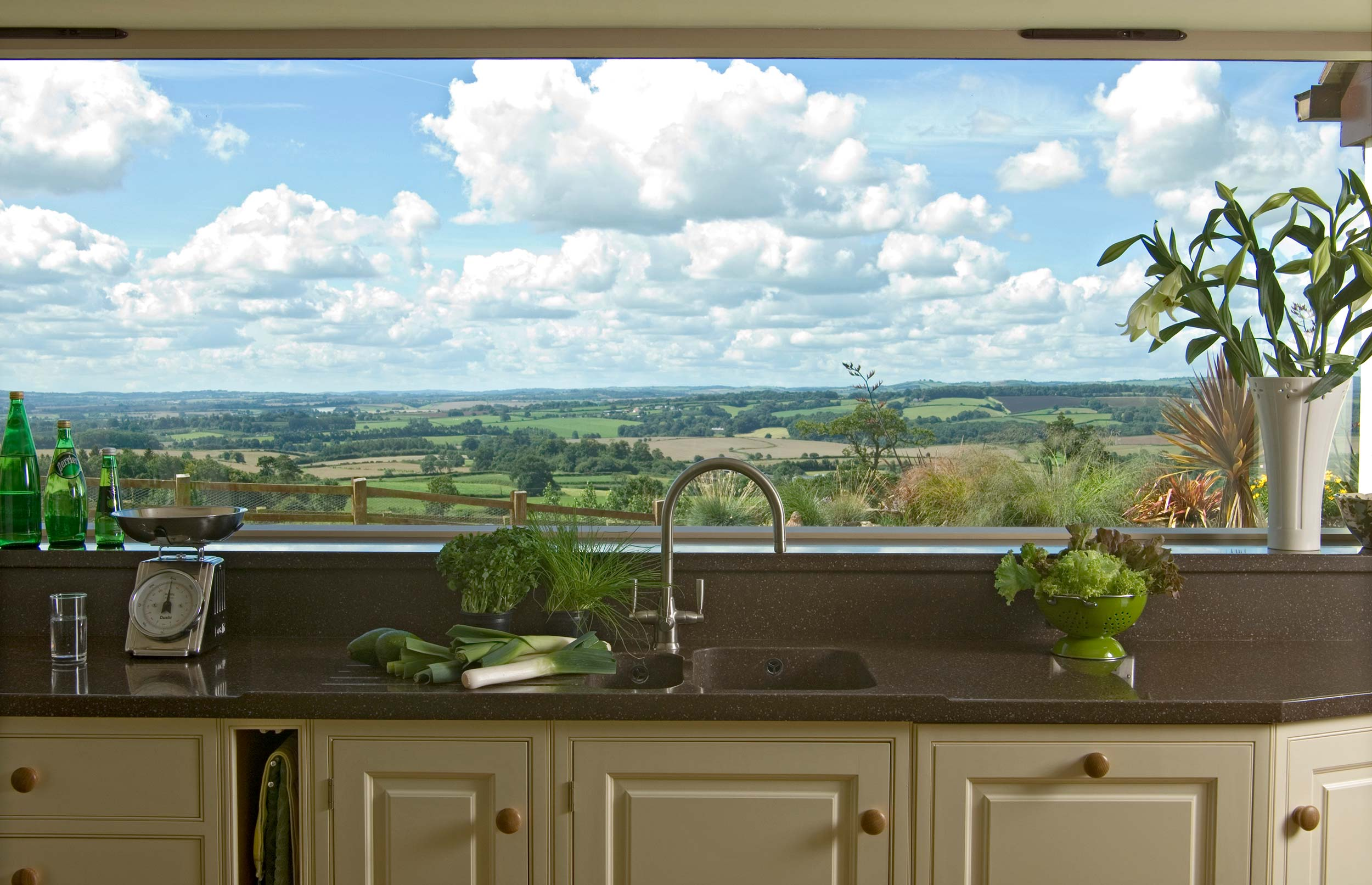 Panoramic view of Countryside from Bespoke Country Kitchen