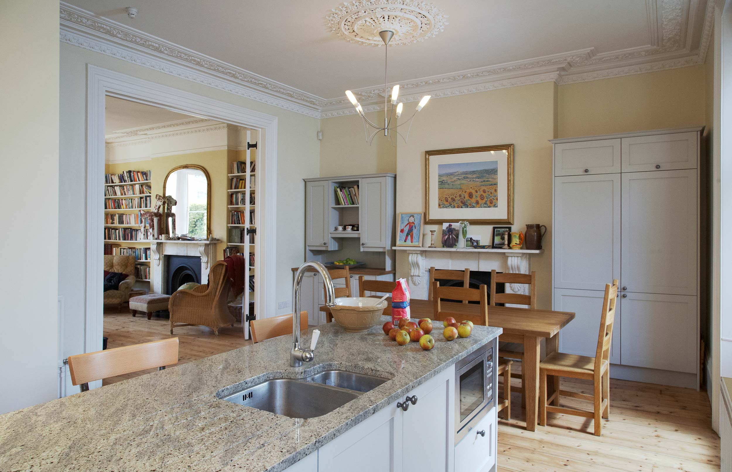 Classic French Bespoke Kitchen Island view