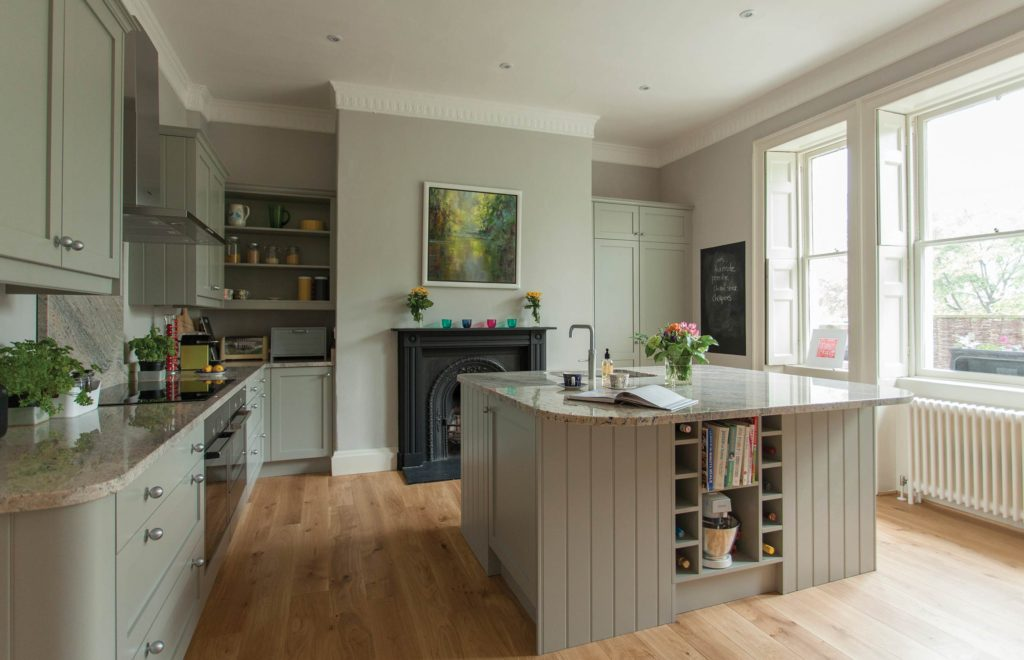 Georgian Bespoke Kitchen with Natural Wood Flooring