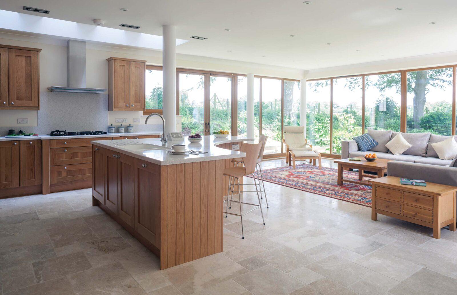 Bespoke kitchen design near limply stoke bath kitchen for Split level extension ideas