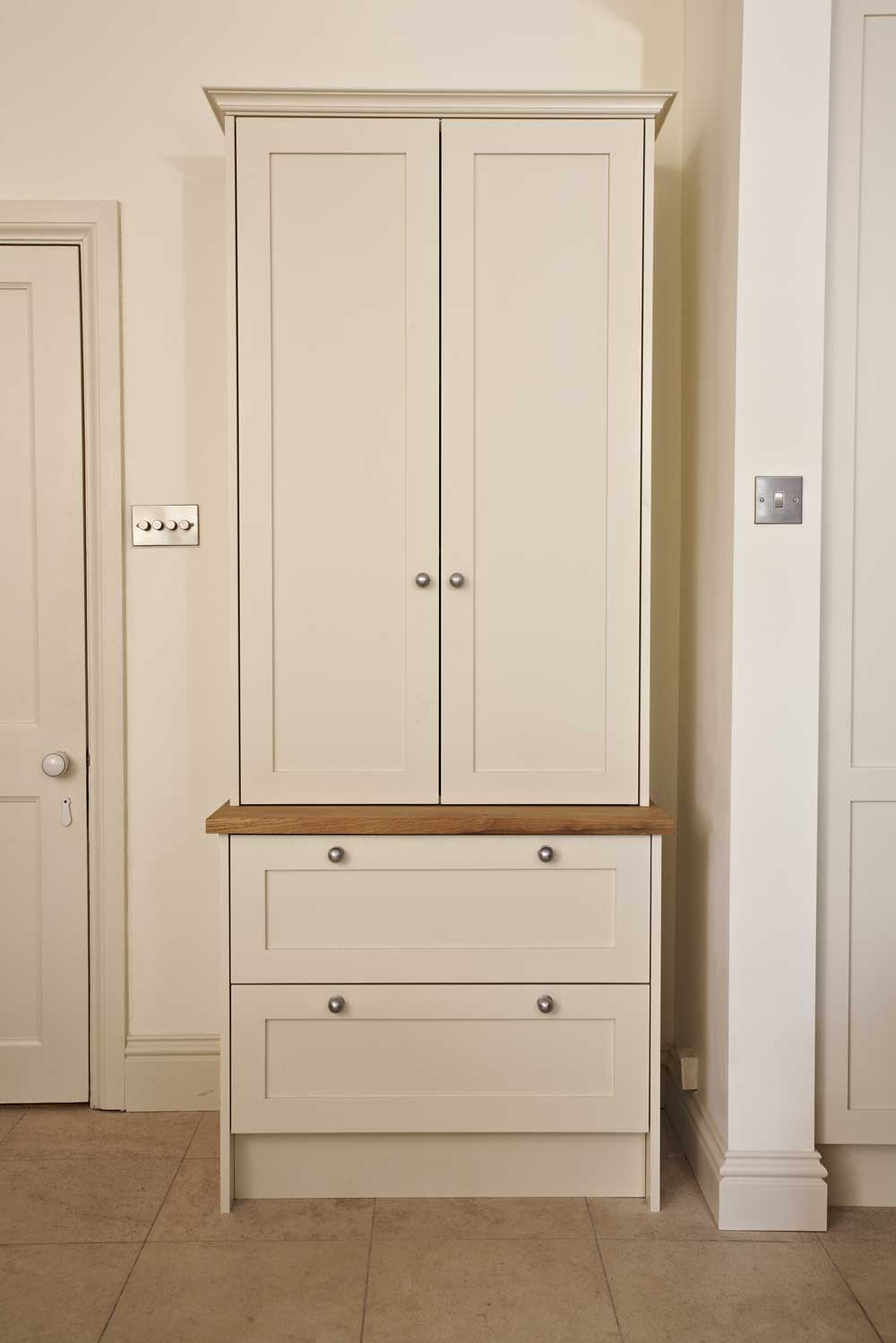Bespoke family kitchen - cream standalone kitchen drawer unit and cupboard