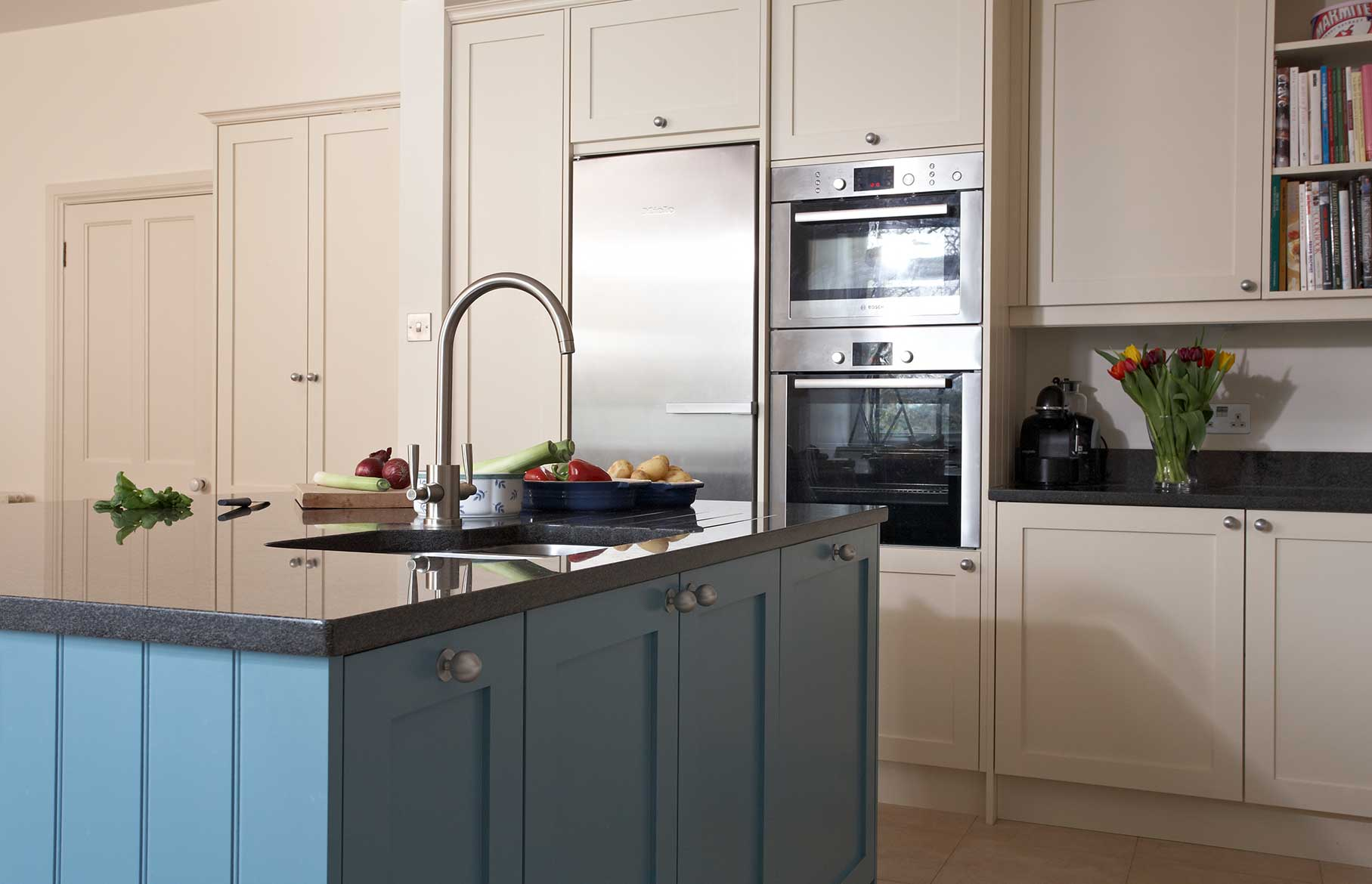 Family kitchen designed by bath kitchen company Kitchen design companies in the uk