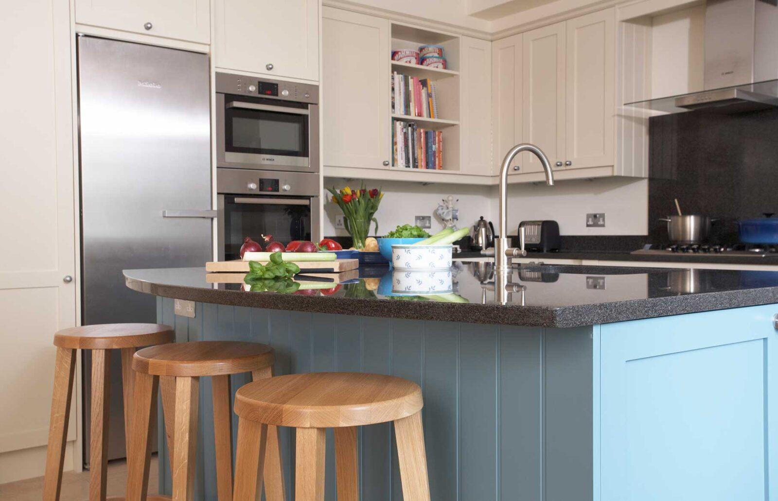 Bespoke family kitchen - close up of island