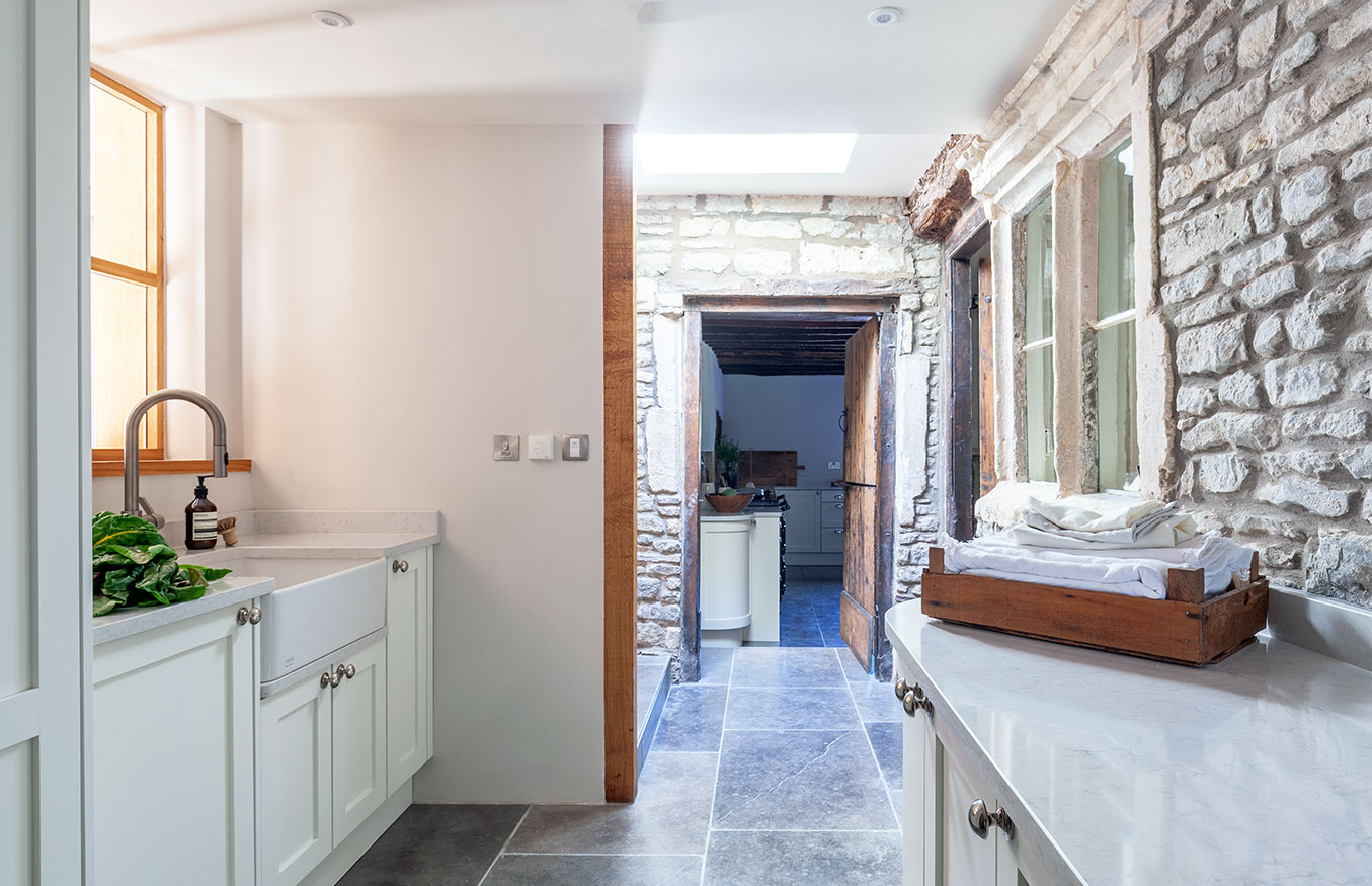 Bespoke country kitchen sink view
