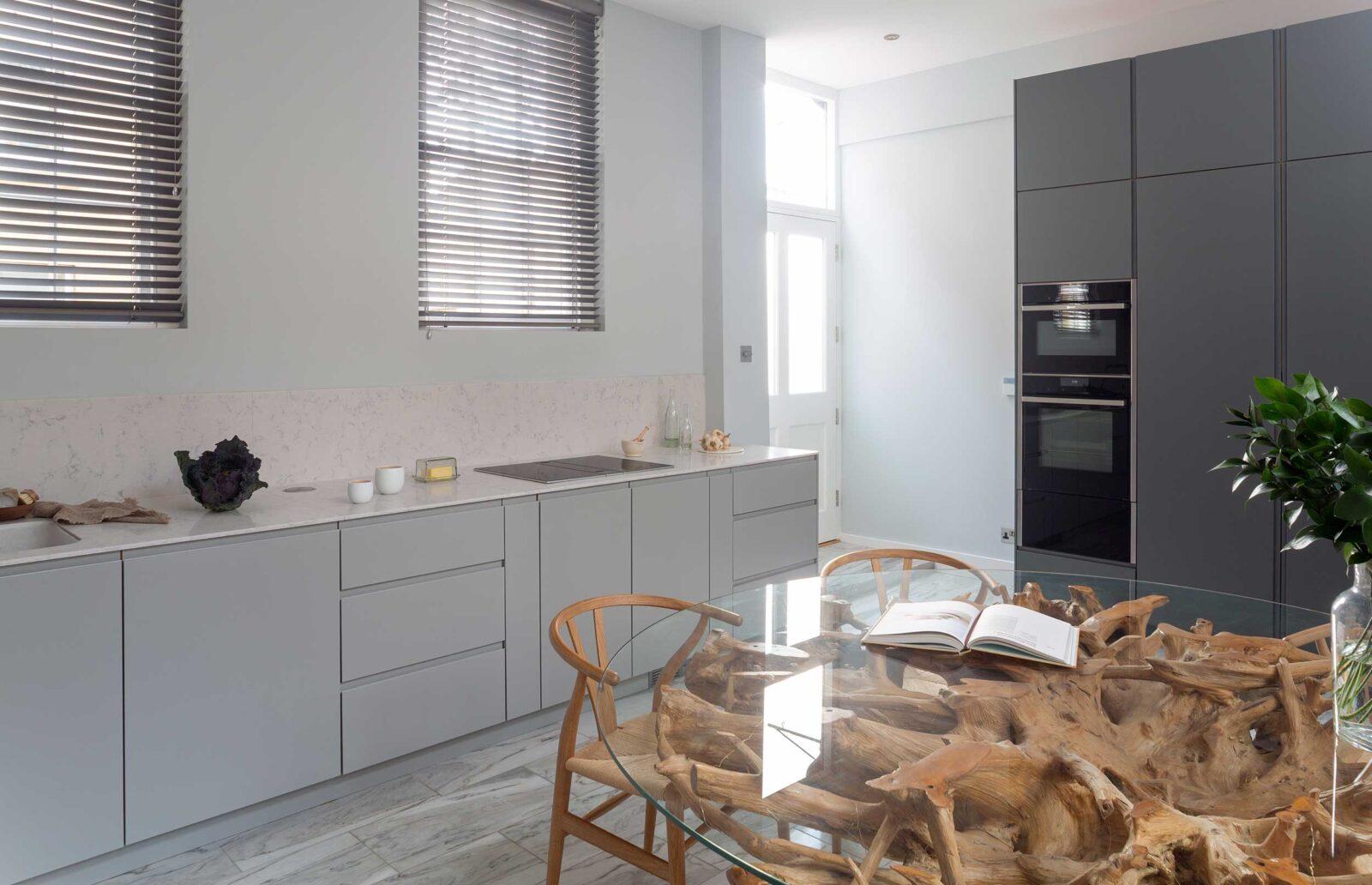 Understated Minimal kitchen cupboard back door