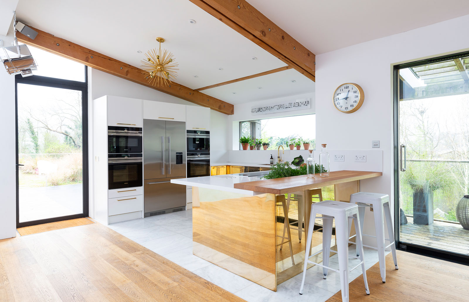 Bespoke characterful kitchen view