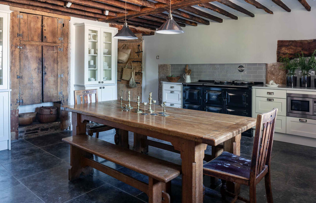 Brown Country Kitchen