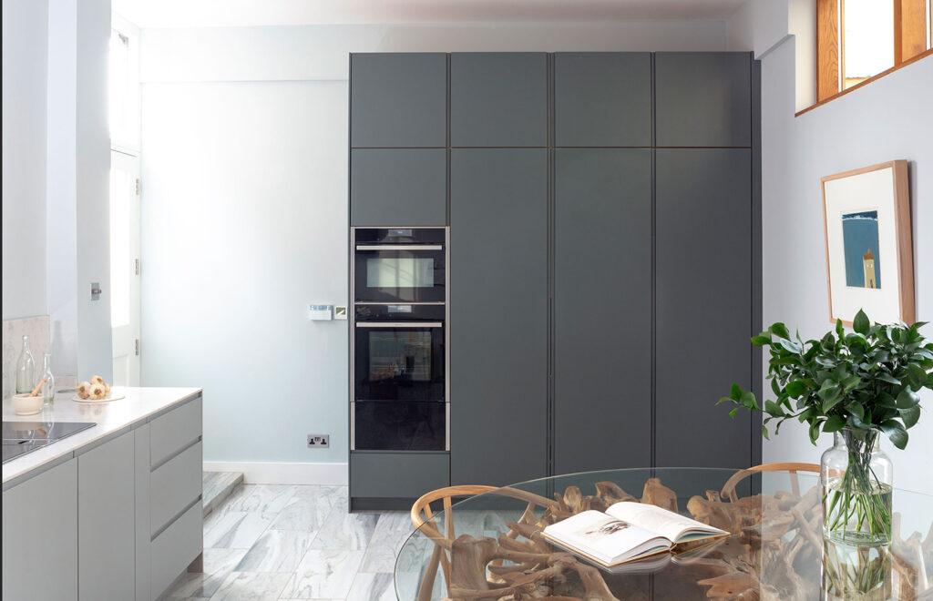Minimal grey kitchen